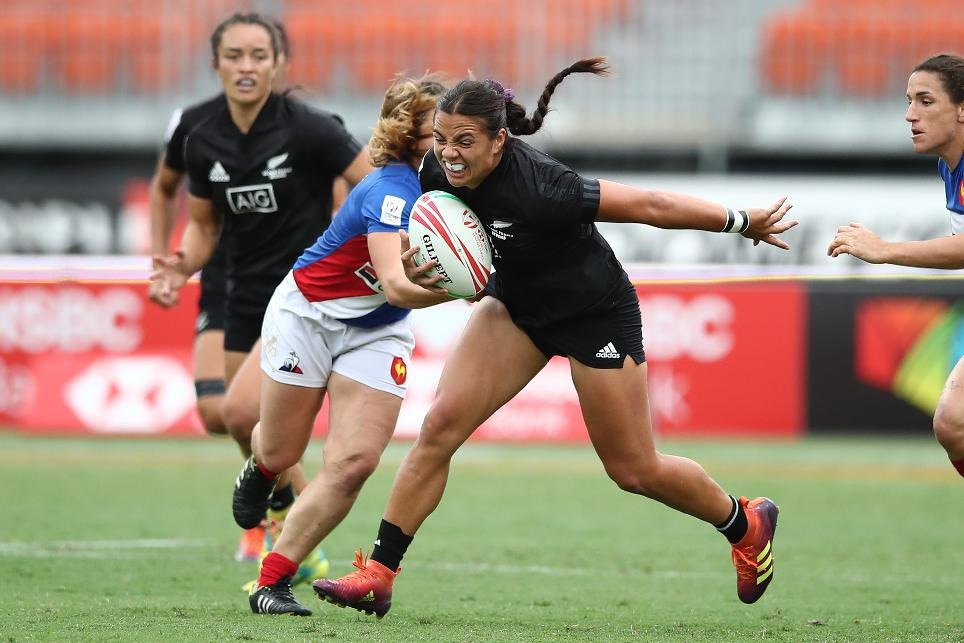 New Zealand were the only side with a perfect record on day one of the World Rugby Women's Sevens Series event in Sydney ©World Rugby