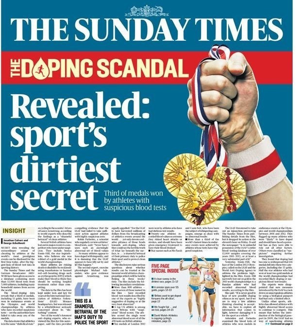 Athletics has been rocked by allegations of widespread drug taking