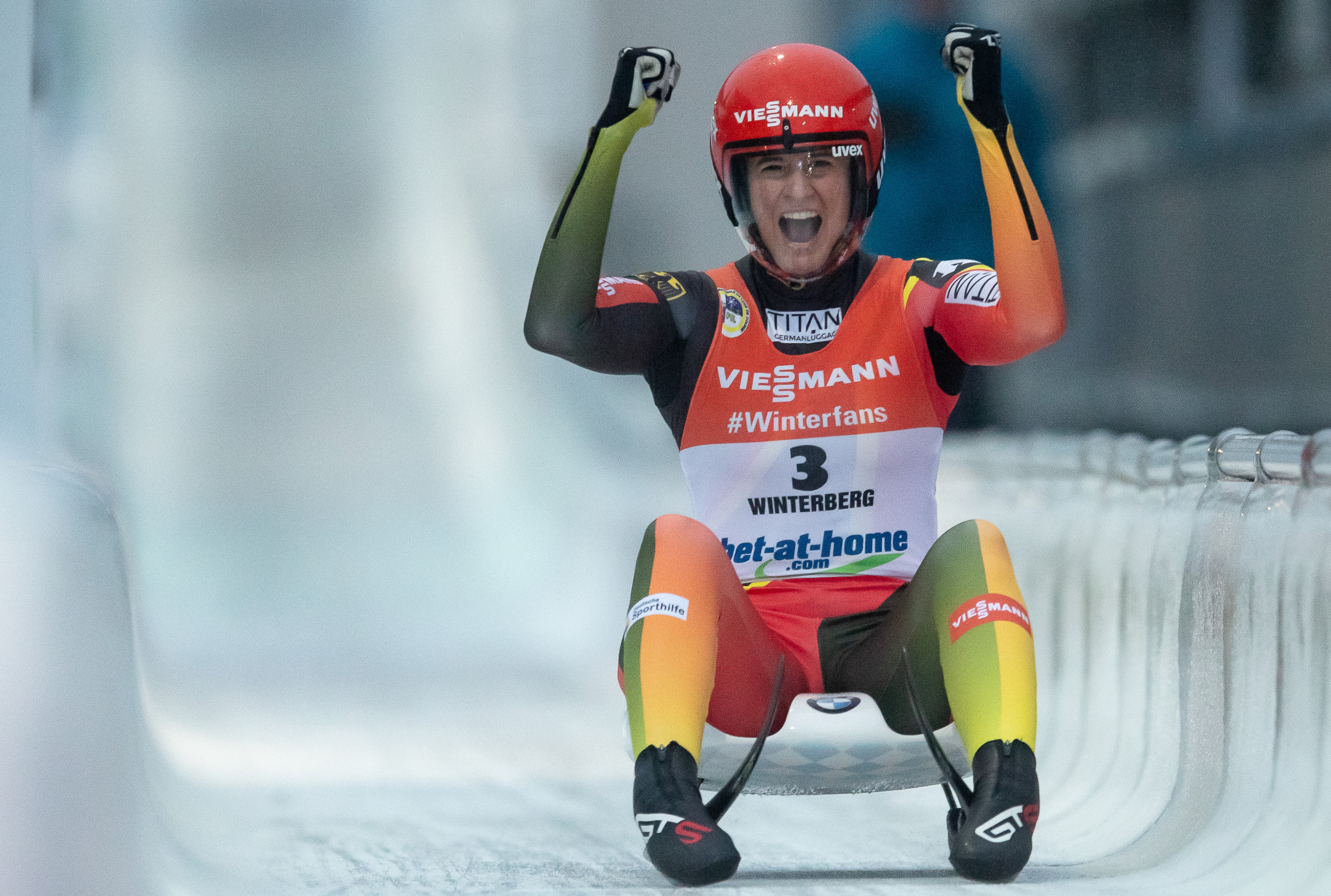 Germany's Natalie Geisenberger is returning to FIL World Cup action after winning the fourth world title of her career ©Getty Images