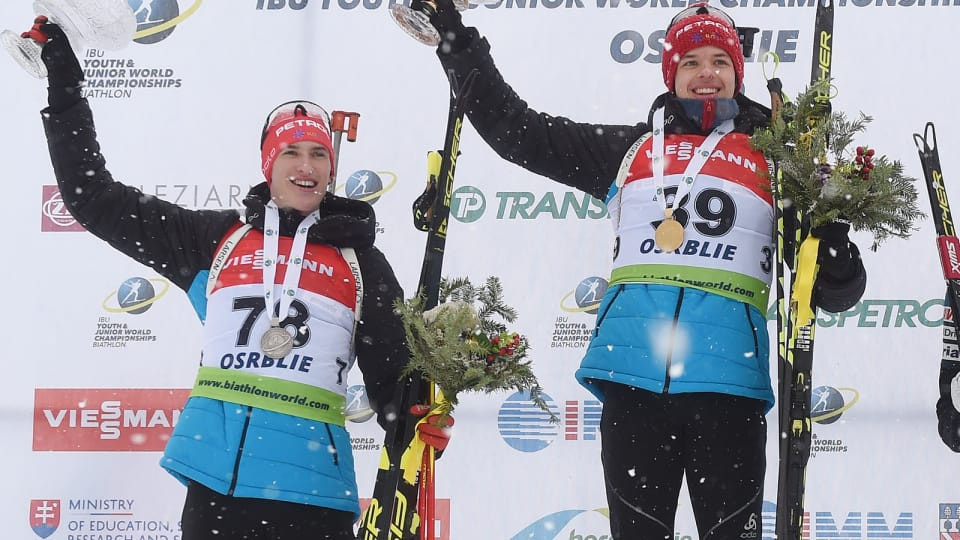 Room-mates take gold and silver in youth men's sprint at IBU Youth/Junior World Championships