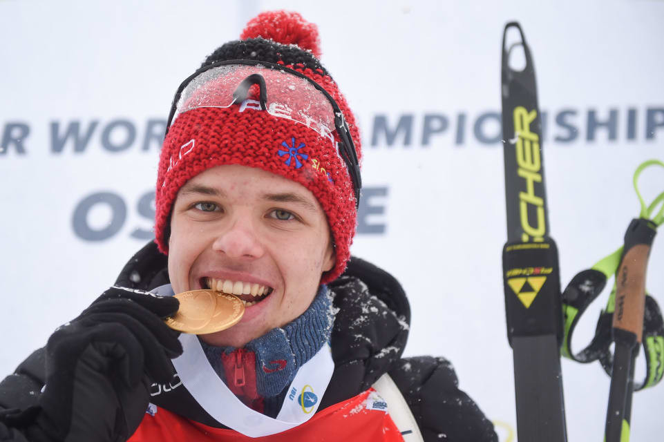 Alex Cisar's win today was his first in three races at the Championships ©IBU