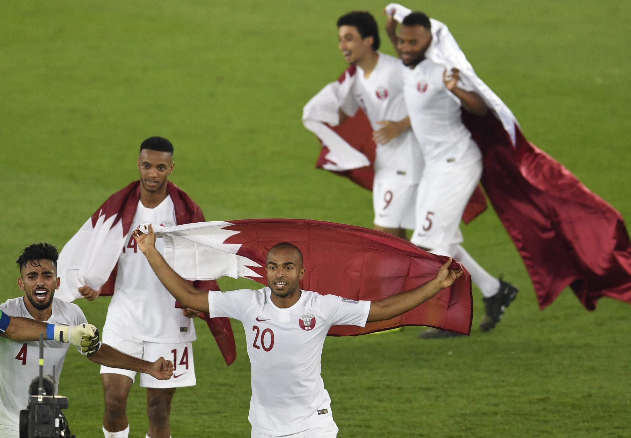 Spectacular overhead kick helps Qatar seal first AFC Asian Cup title