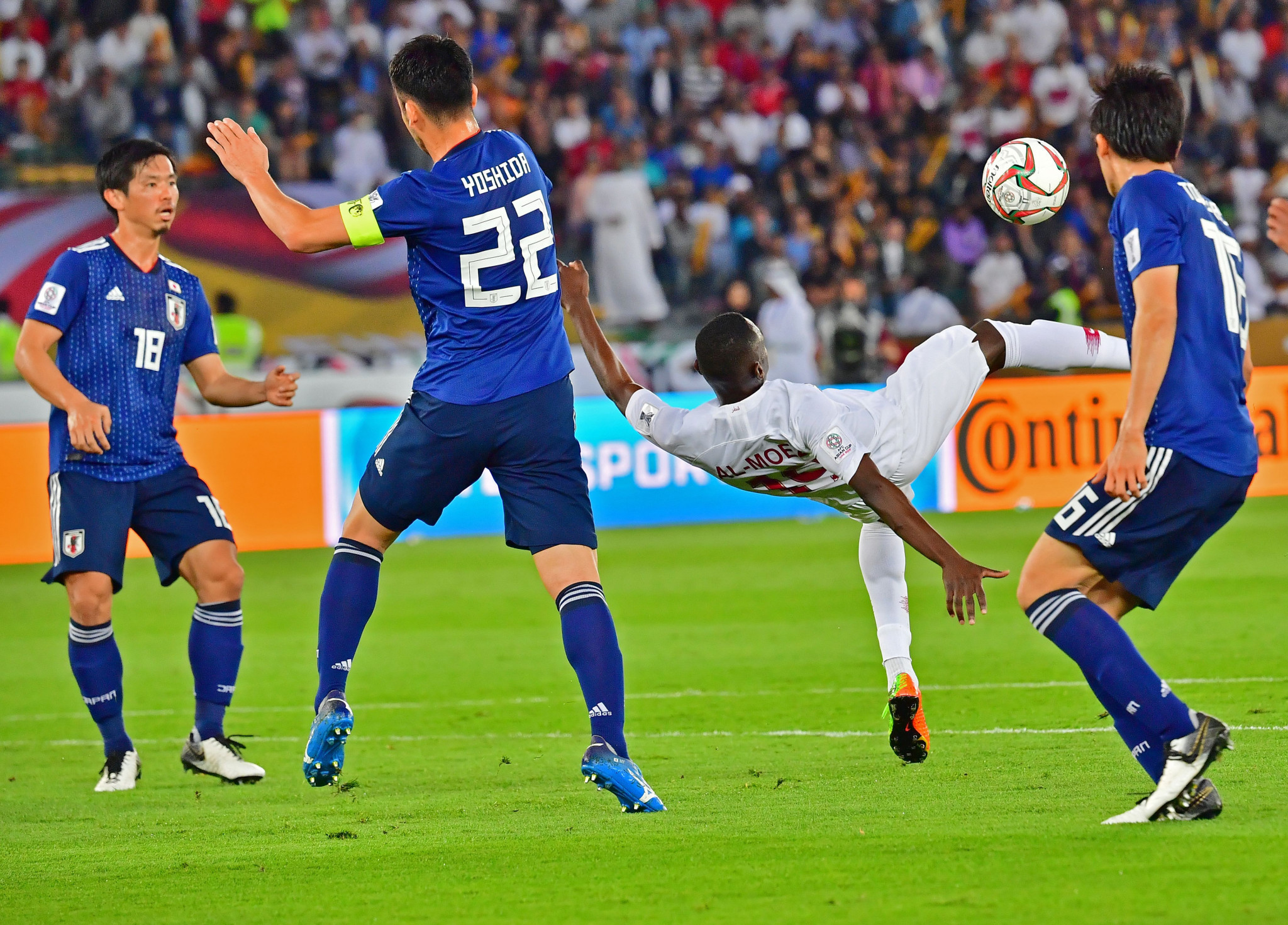 Almoez Ali's overhead kick was the stand-out moment of the final ©Getty Images