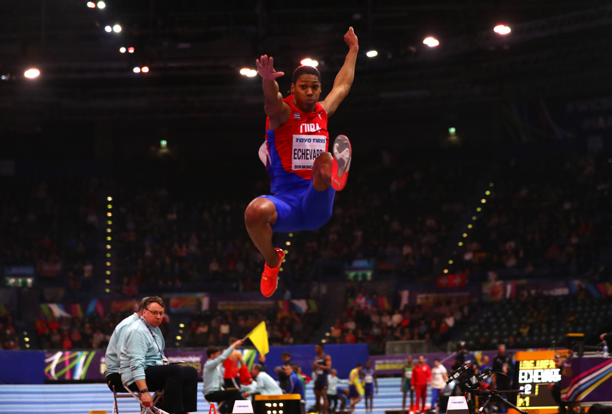 All eyes on long jumper Echevarría with IAAF World Indoor Tour set to resume in Karlsruhe