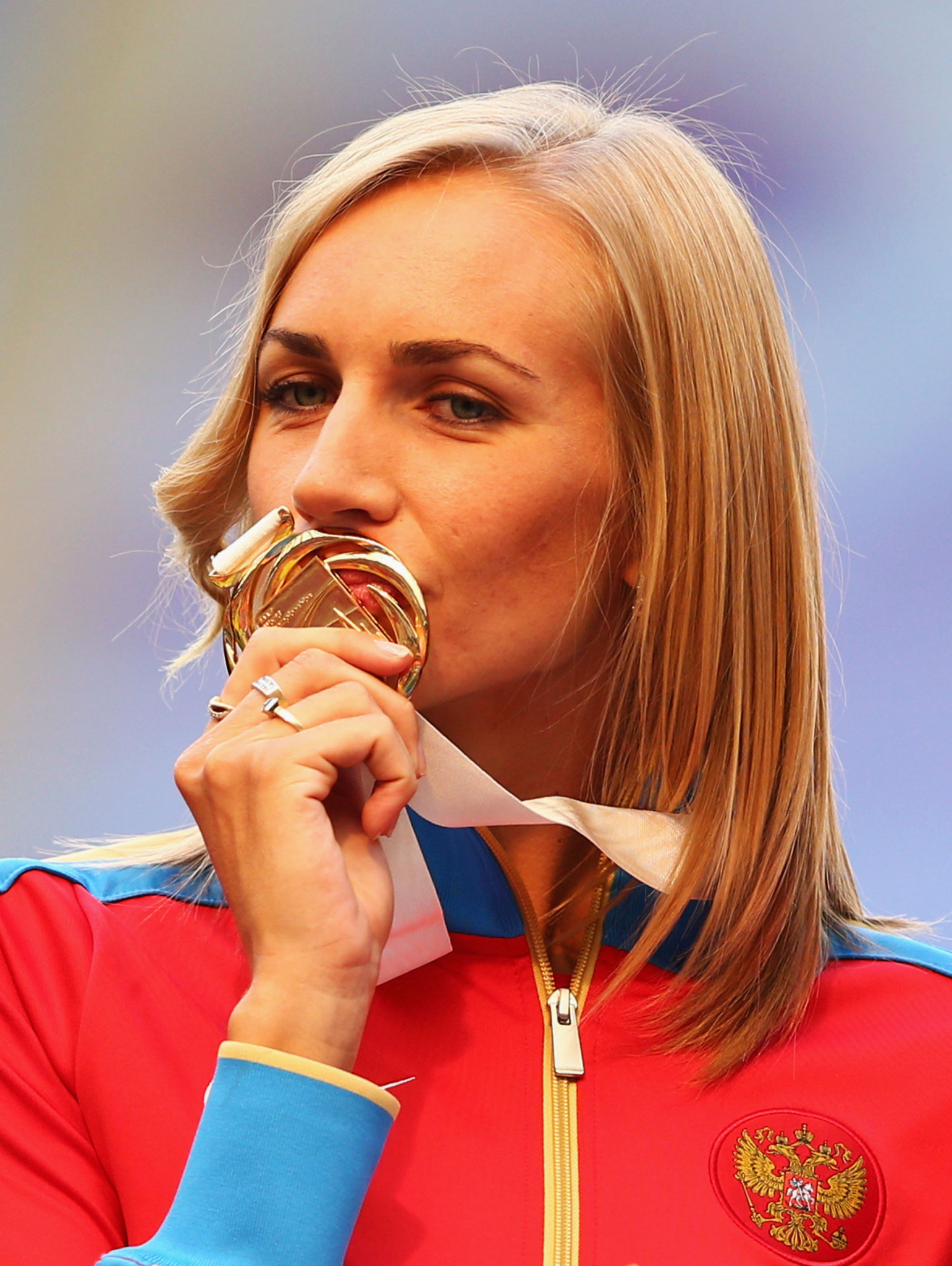 Russian high jumper Svetlana Shkolina will now be stripped of the gold medal she won at the 2013 IAAF World Championships in Moscow after she was banned for four years by the Court of Arbitration for Sport ©Getty Images