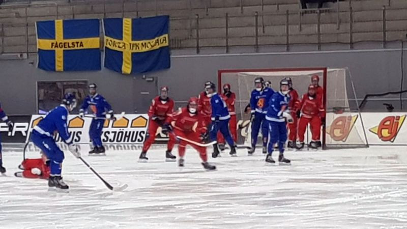 Russia proved too strong for Finland ©Finland Bandy Association