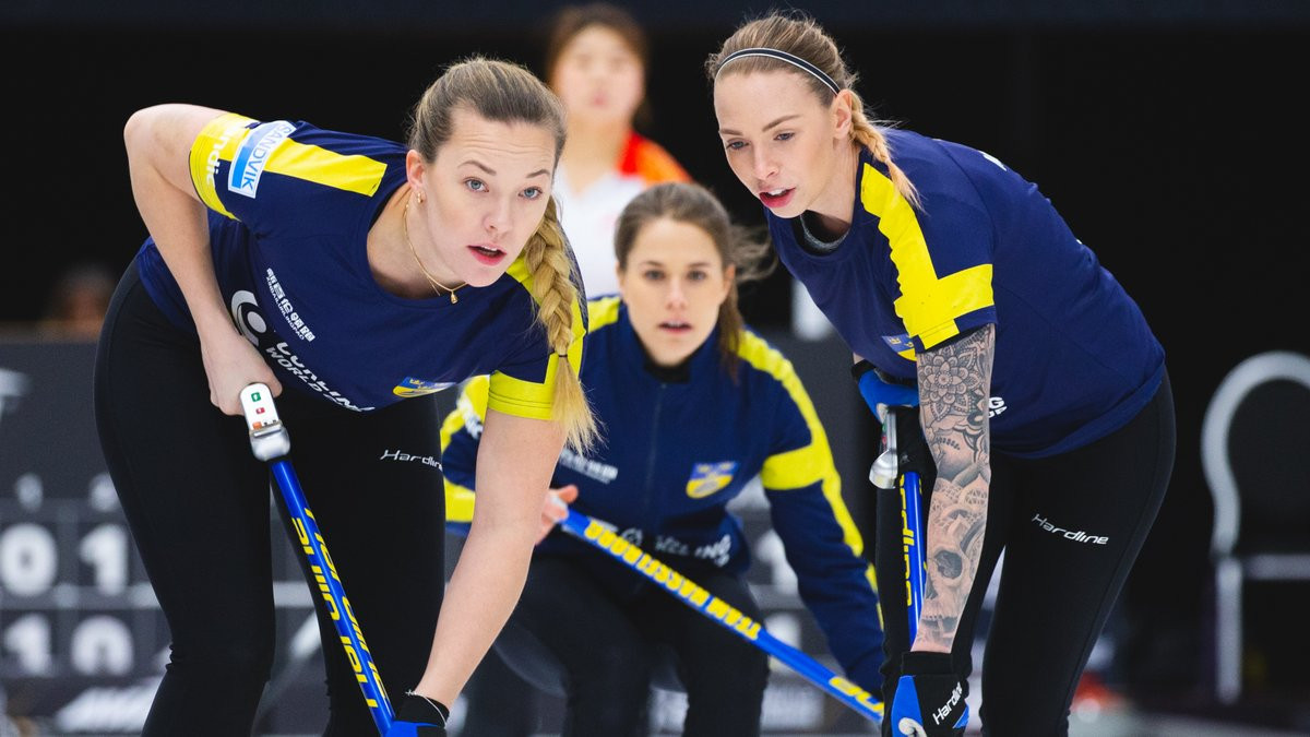 Team Hasselborg take lead of group in front of home crowd at Curling World Cup