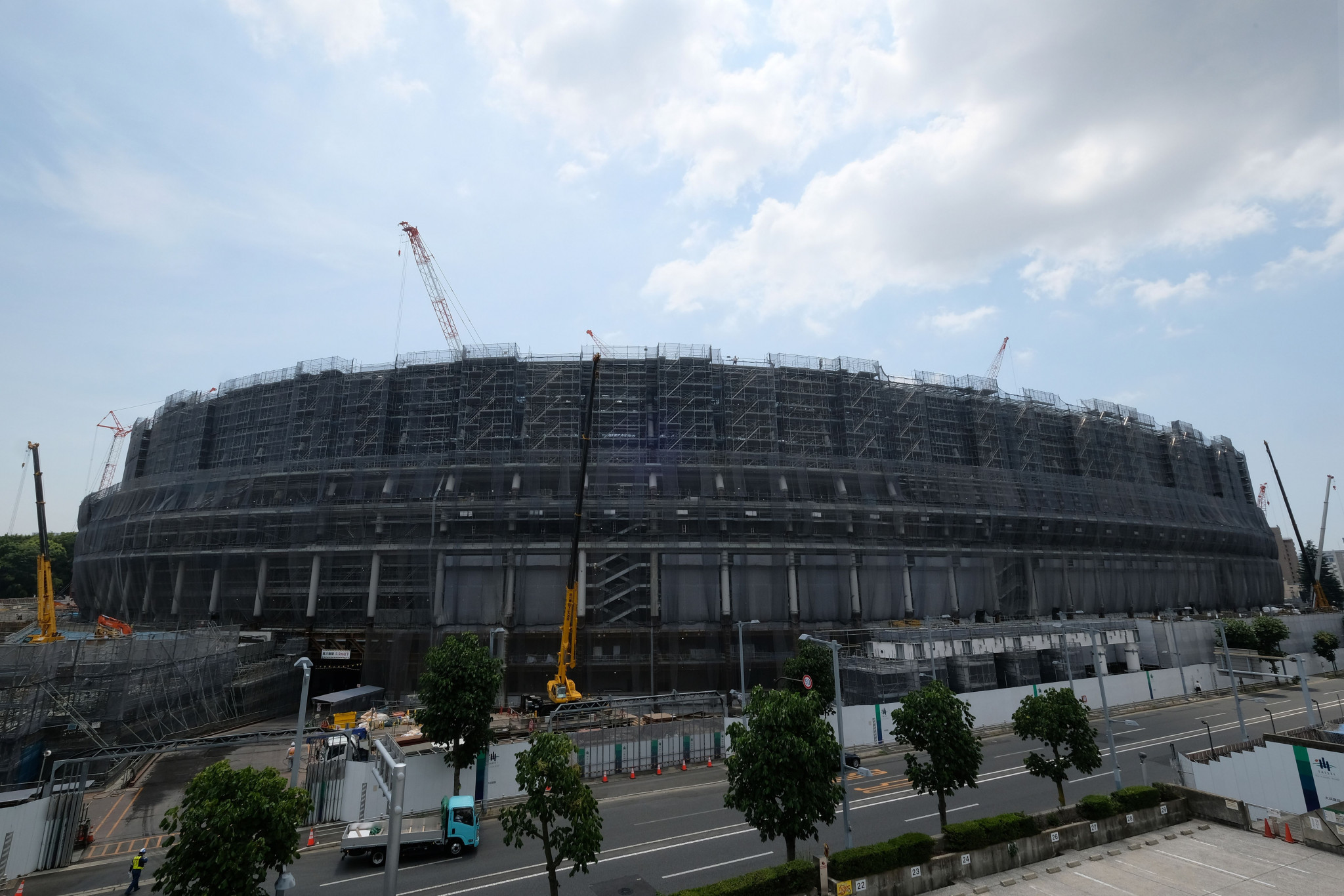 Environmental NGOs have accused Tokyo 2020 organisers of using timber associated with rainforest destruction and human rights abuses to build venues ©Getty Images