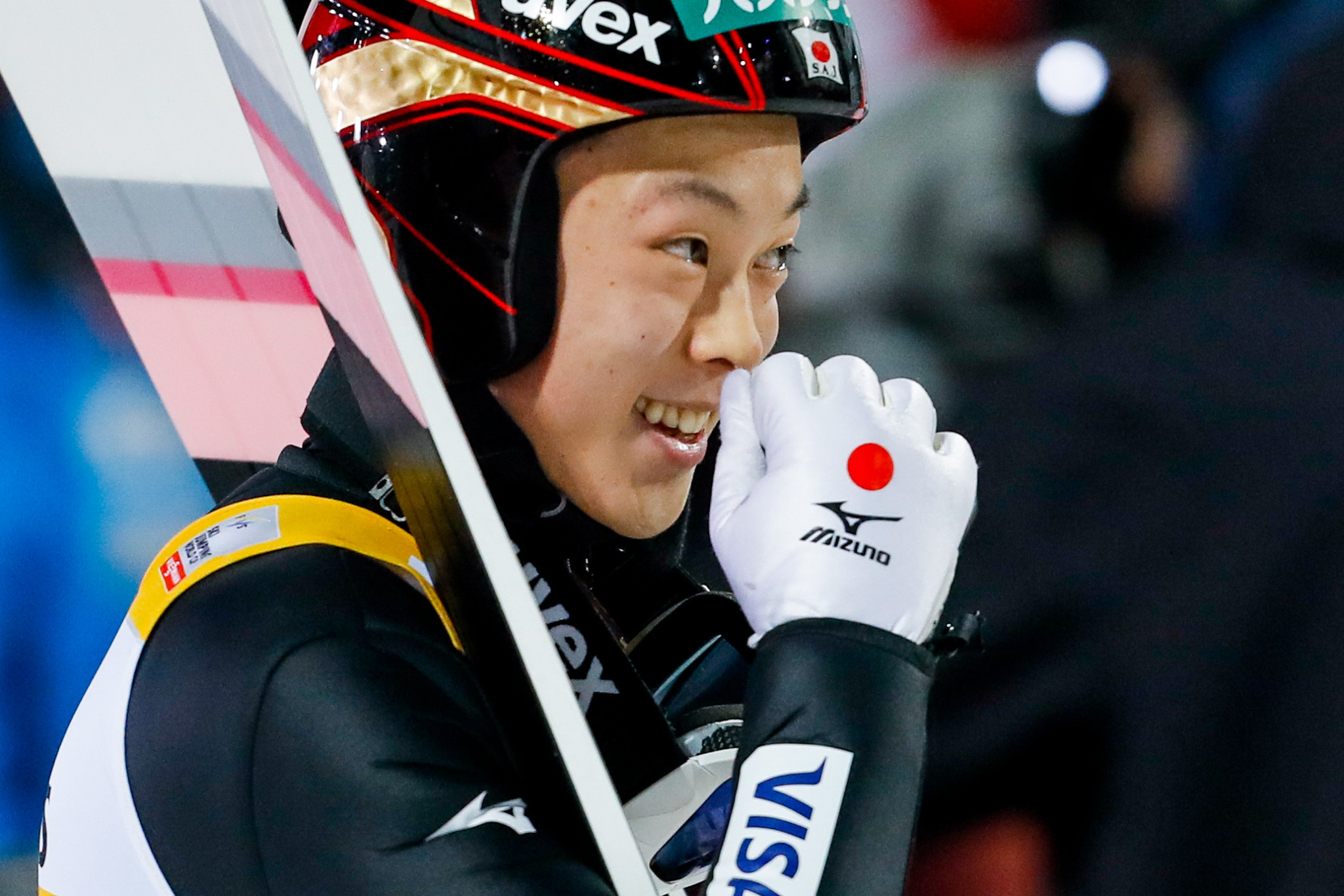 Japan's Ryoyu Kobayashi won in Oberstdorf for the first time in six events ©Getty Images