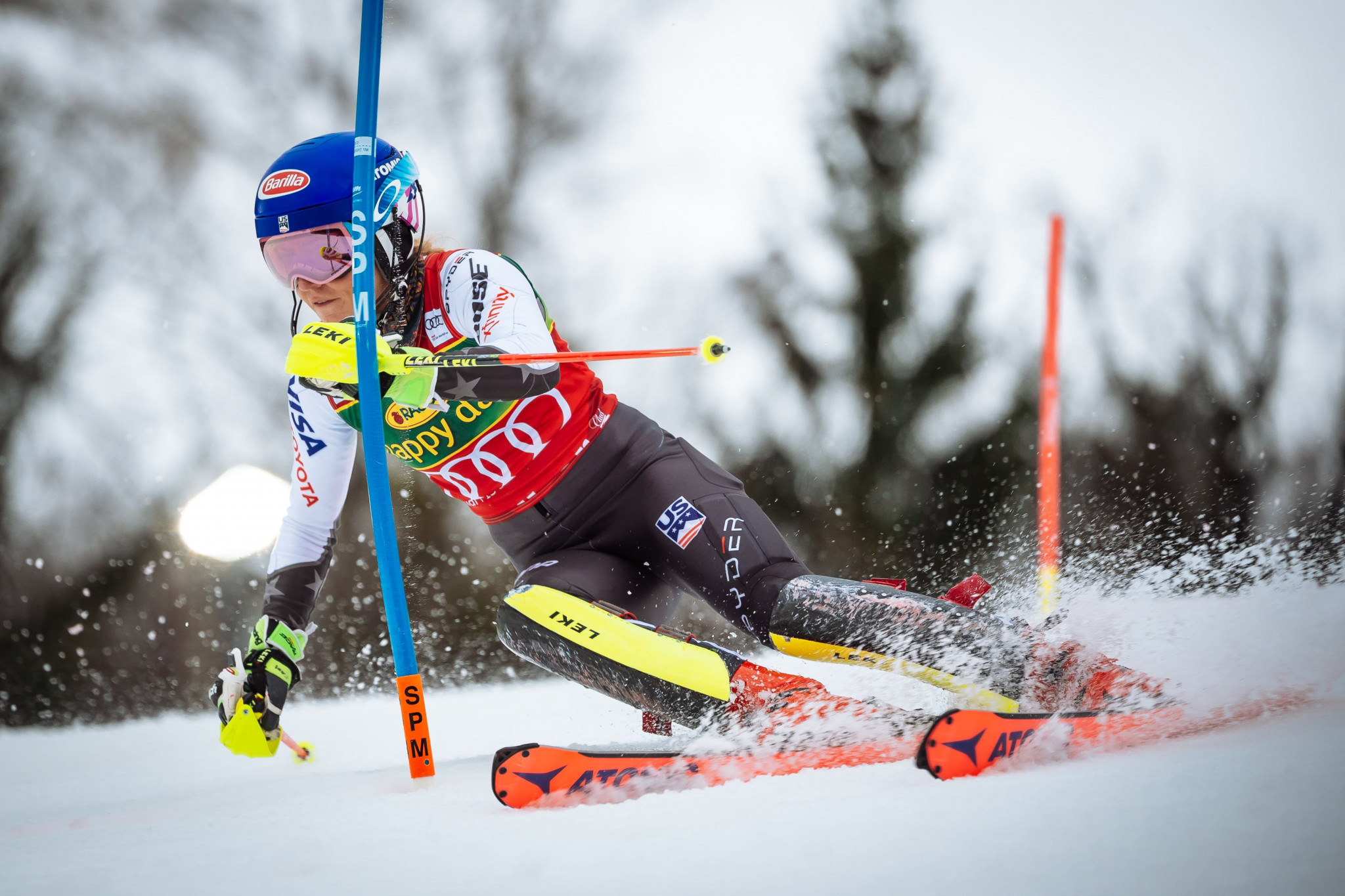 American star Mikaela Shiffrin secured a personal best 13th FIS  Alpine Skiing World Cup victory of the season in Maribor ©Getty Images