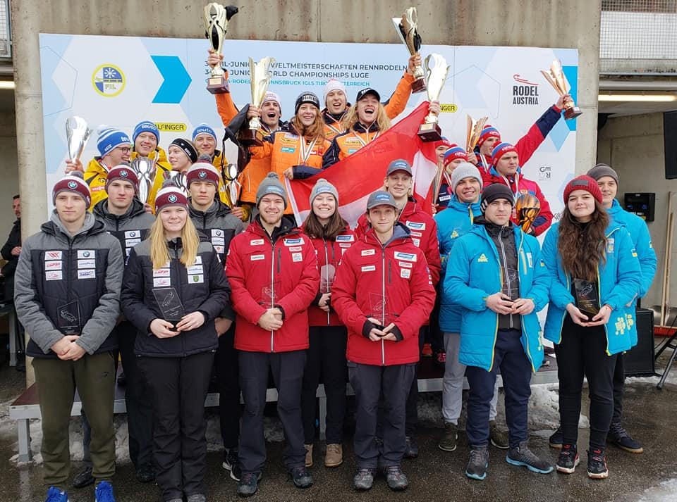Austria won the team relay event that concluded the Junior World Championships in Innsbruck, with Germany taking the silver medal and Russia bronze ©FIL