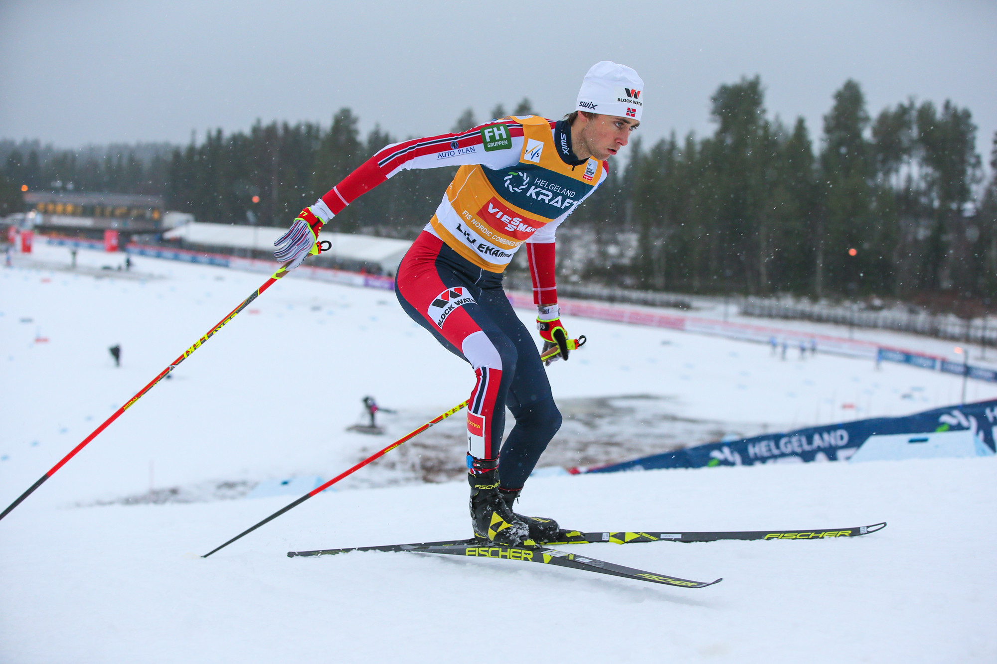 Mere centimetre sees Riiber win third successive Nordic Combined World Cup