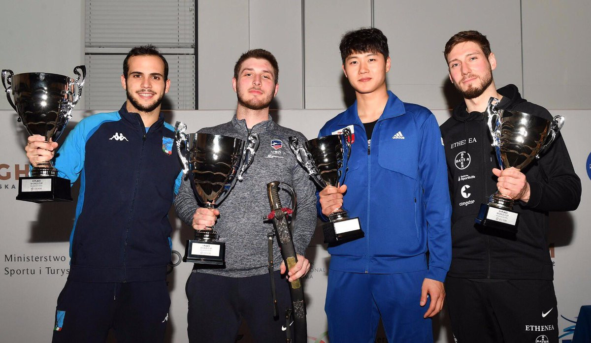 Top-seed Dershwitz clinches first gold medal of the season at FIE Men's Sabre World Cup