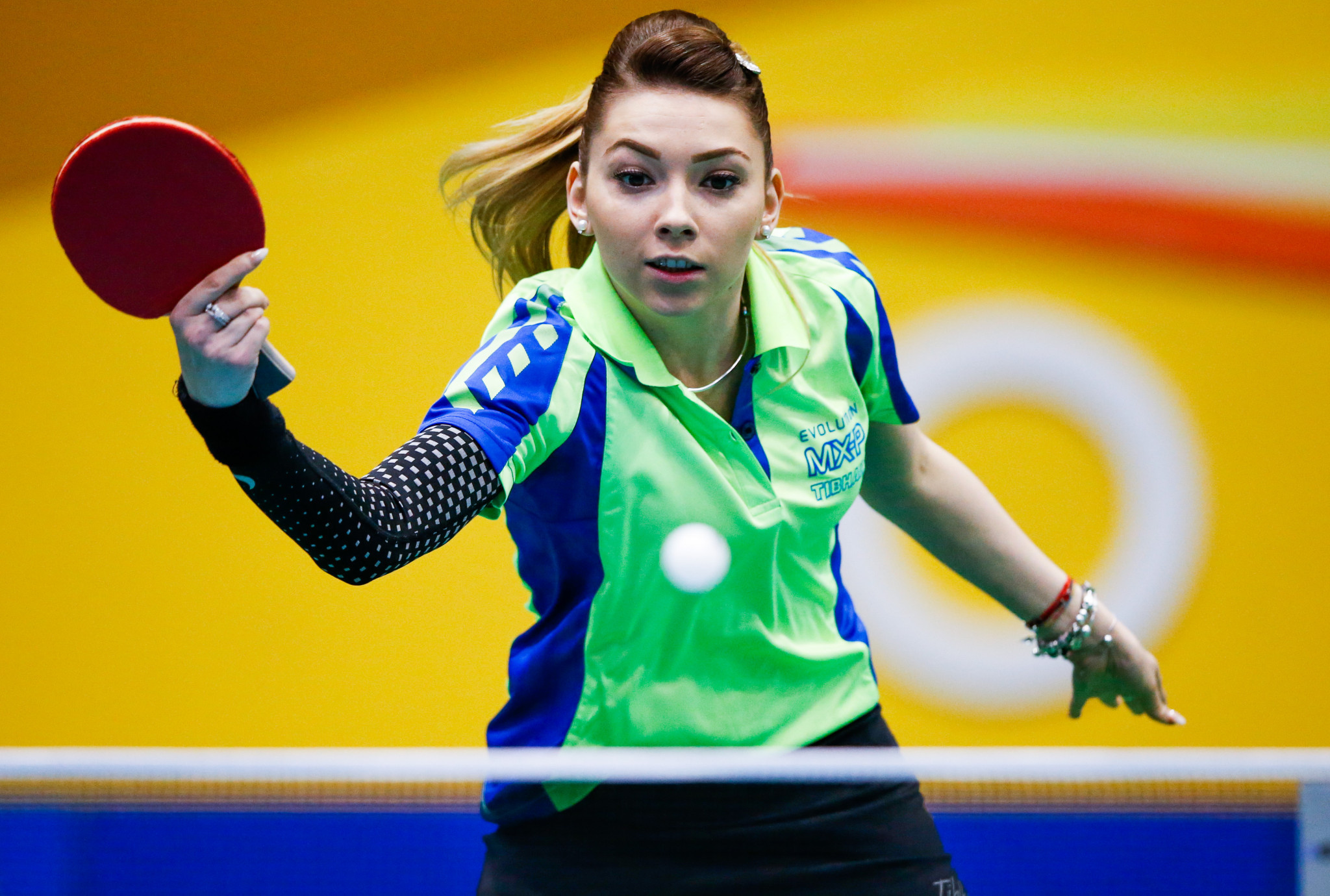 Defending champion Bernadette Szőcs is into the women's semis ©Getty Images