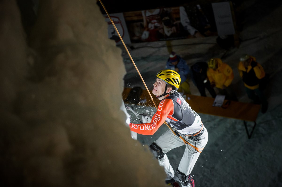 Russia take gold in men and women's speed finals at UIAA Ice Climbing World Cup in Rabenstein