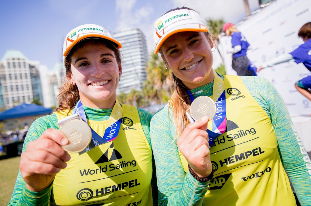 Brazilian Olympic champions overtake leaders to win 49erFX gold at Sailing World Cup