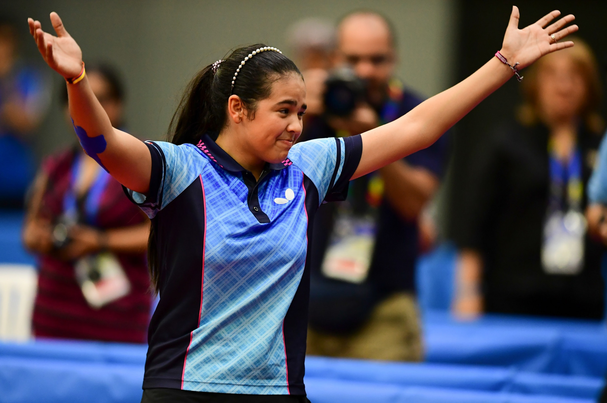 Home favourite Adriana Diaz made it through to the women's semi-finals ©Getty Images
