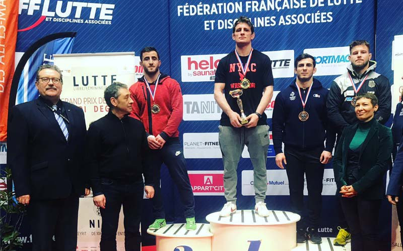 America's Samuel Brooks took victory in the 86kg freestyle final at the Grand Prix de France Henri Deglane in Nice ©USA Wrestling