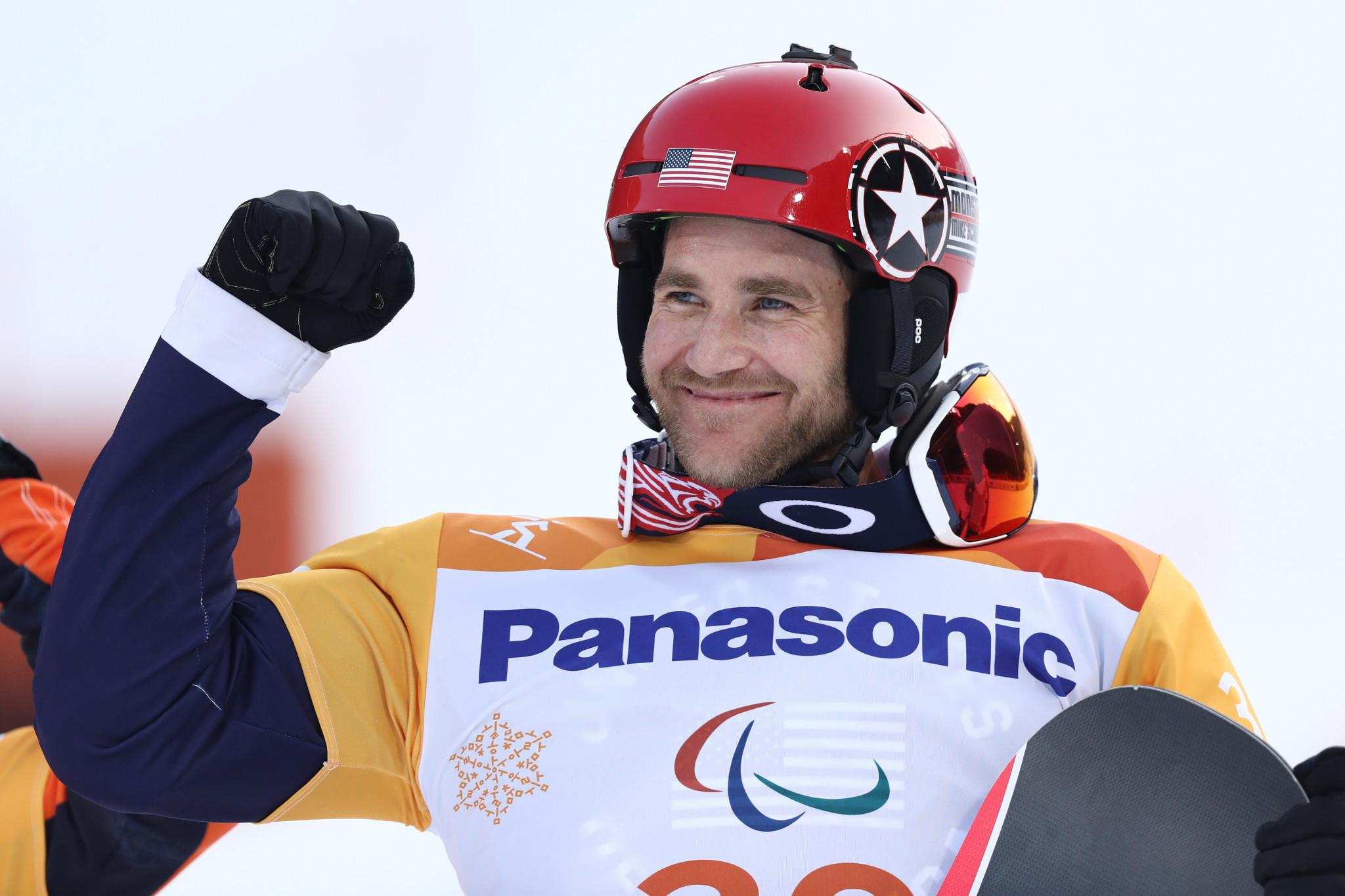 The United States' reigning Paralympic champion Mike Schultz will go for victory again in the men's snowboard cross lower limb impairment one class in Big White in Canada ©Getty Images