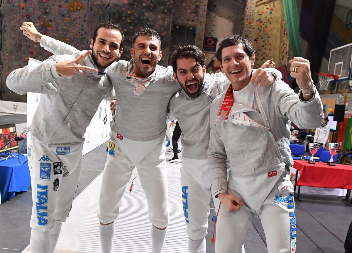Italy secure team title at FIE Men's Sabre World Cup