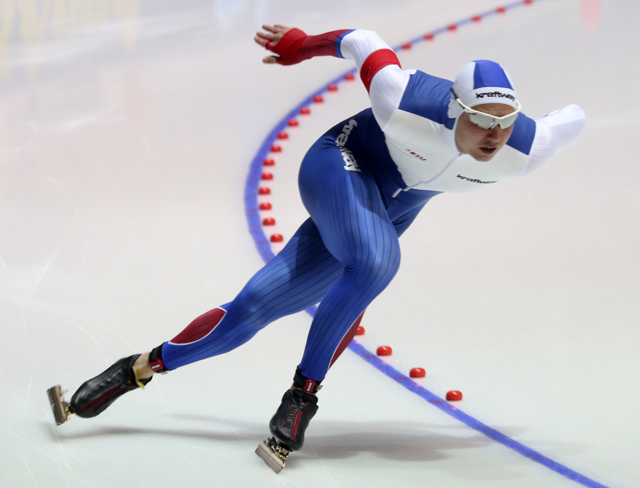 Russia's Pavel Kulizhnikov won the second 500m race at the ISU Speed Skating World Cup in Hamar, having won the same event yesterday ©Getty Images