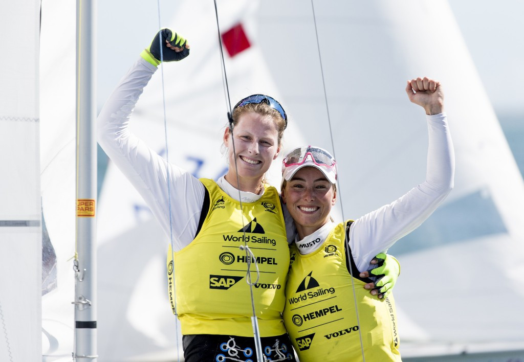 Loewe and Markfort win first Sailing World Cup gold medal in 470 class