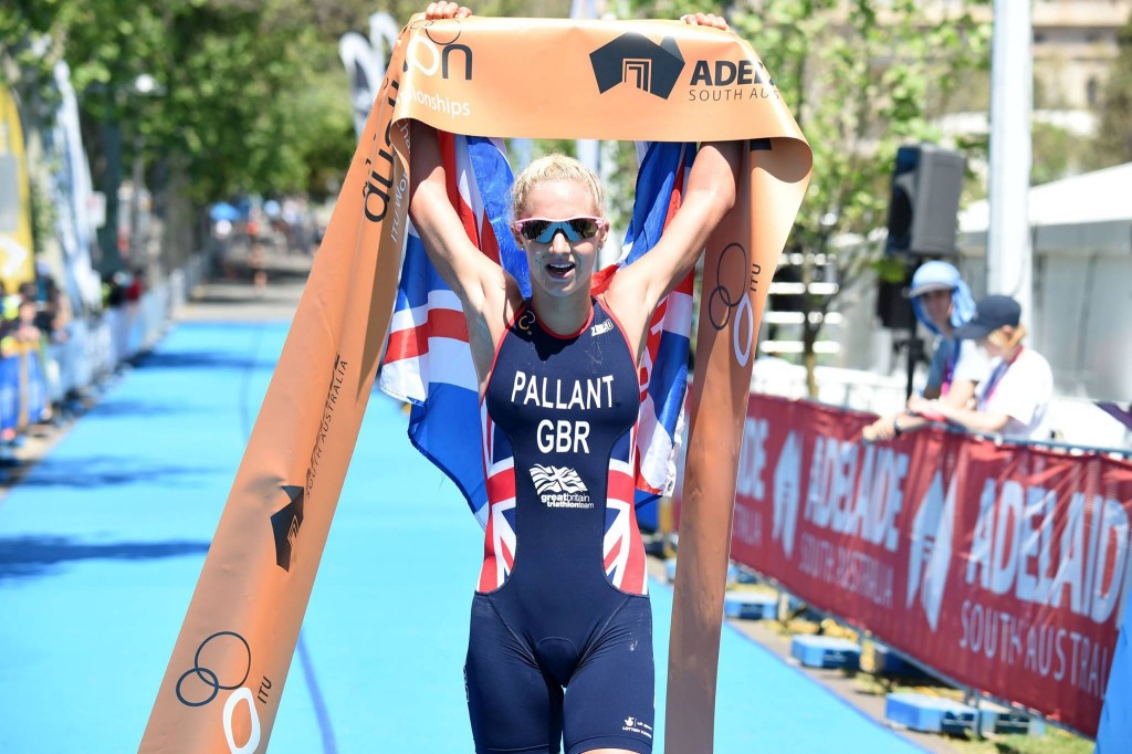 Former track star Pallant claims world duathlon title in Adelaide