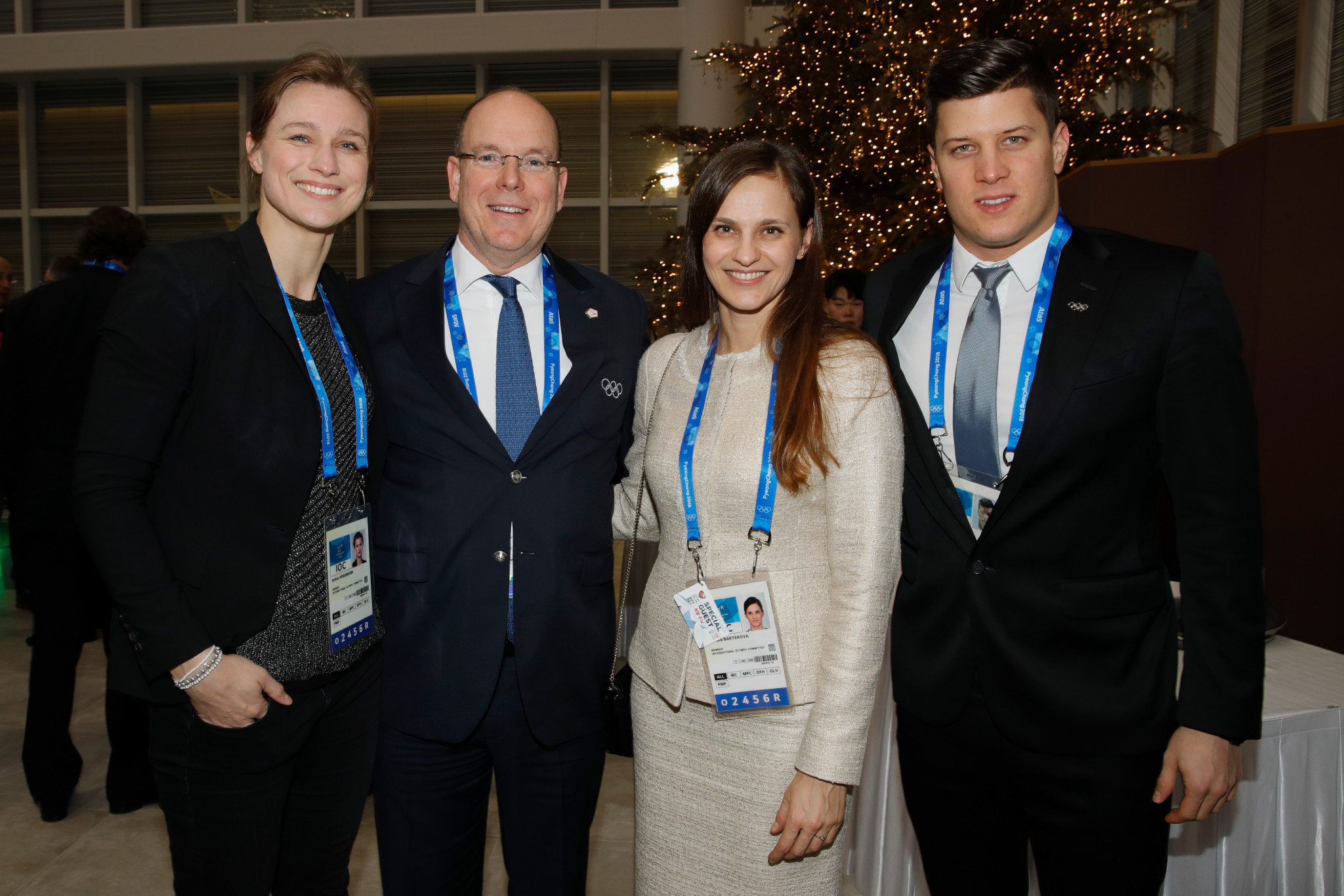 Hungarian Olympic gold medallist Dániel Gyurta, right, was elected as a member of the IOC Athletes' Commission in 2016 and has now taken up a role in the Hungarian Government ©Getty Images