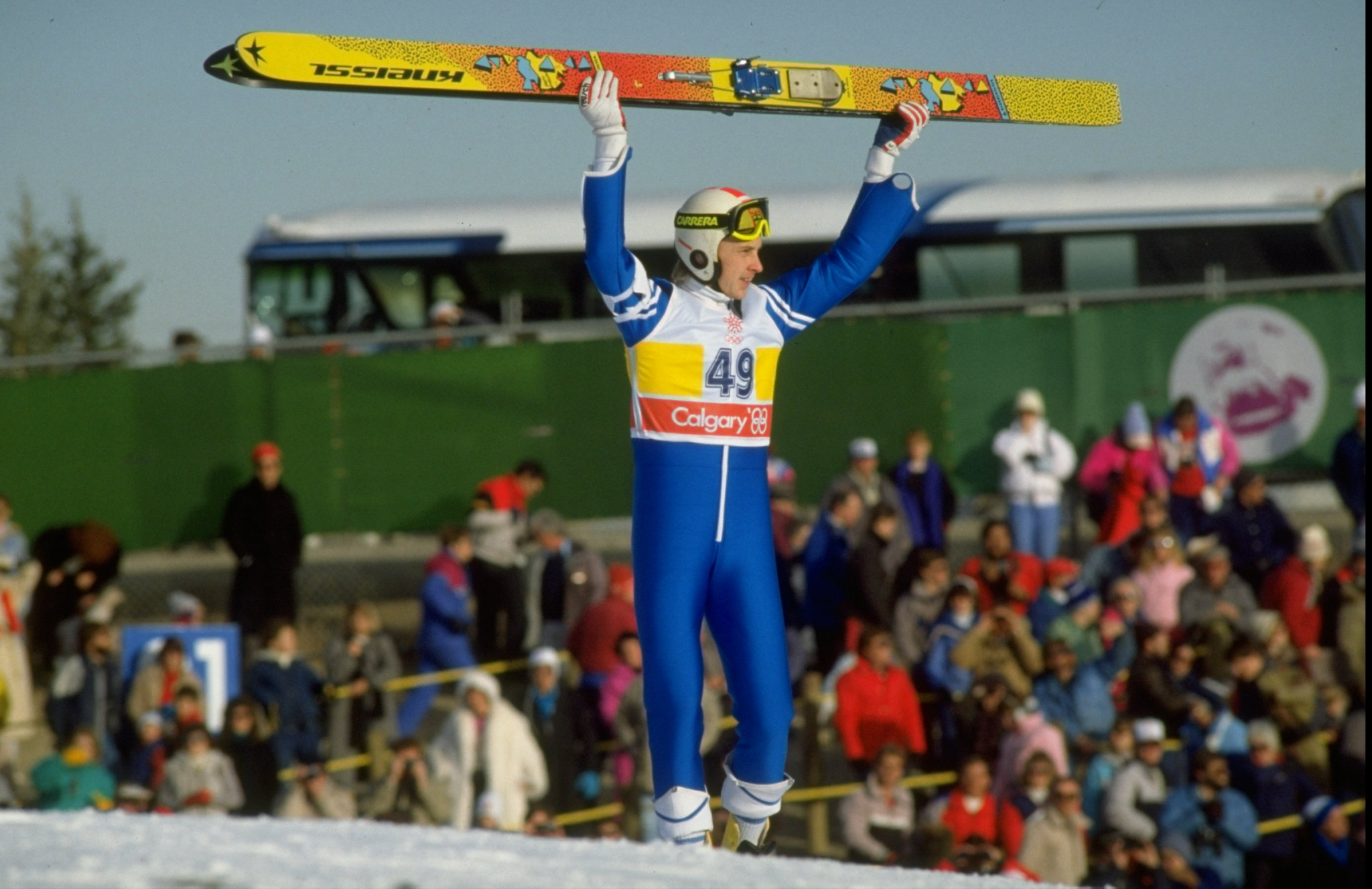 Iconic Finnish ski jumper Matti Nykänen has died at the age of 55 ©Getty Images