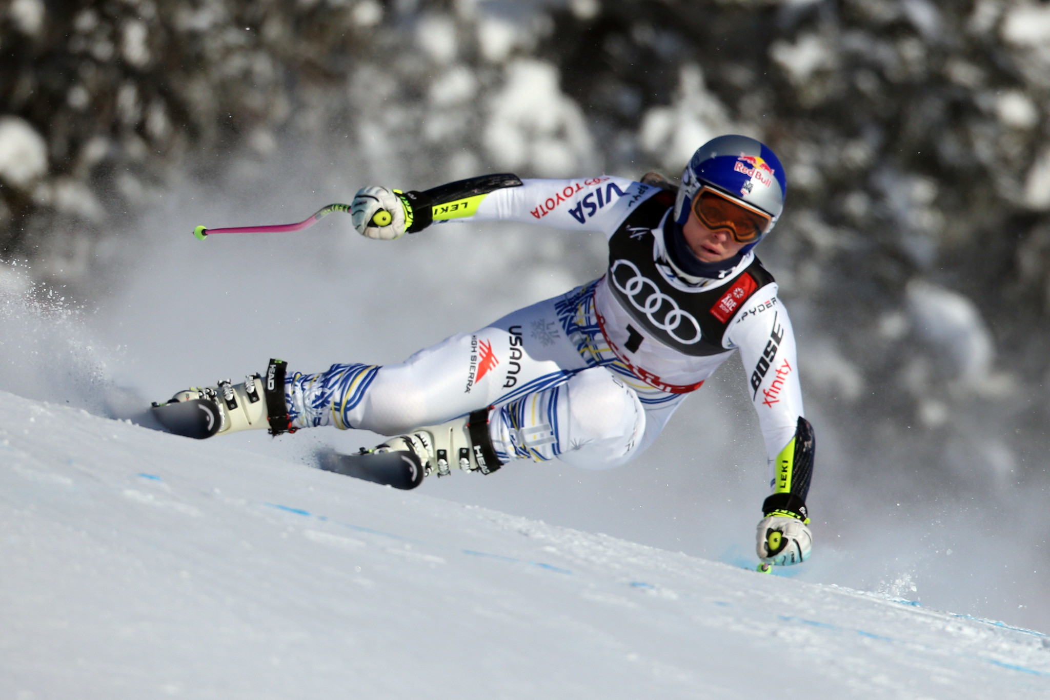 Lindsey Vonn finished 11th in the downhill training event prior to the FIS Alpine World Ski Championships in Åre, which are starting tomorrow ©Getty Images