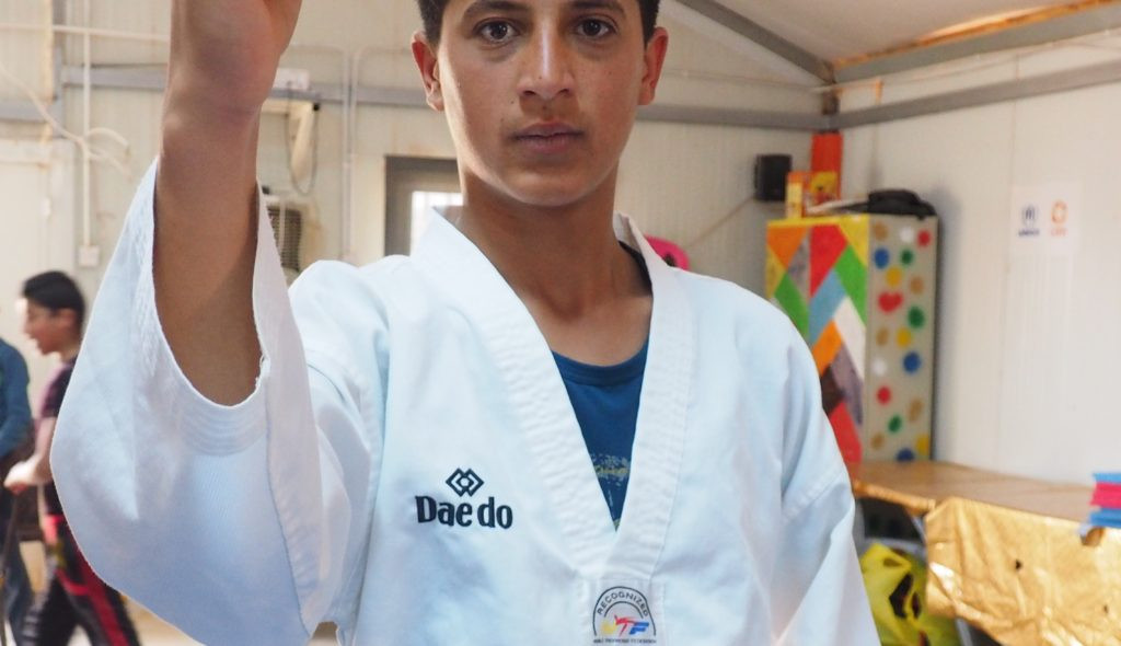 Wael Fawaz Al-Farraj has targeted representing the refugee team at the Tokyo 2020 Olympics after his successful training at the Taekwondo Humanitarian Foundation ©THF