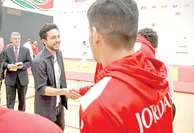 Crown Prince Hussein meets Jordan's athletes at Olympic Preparation Centre