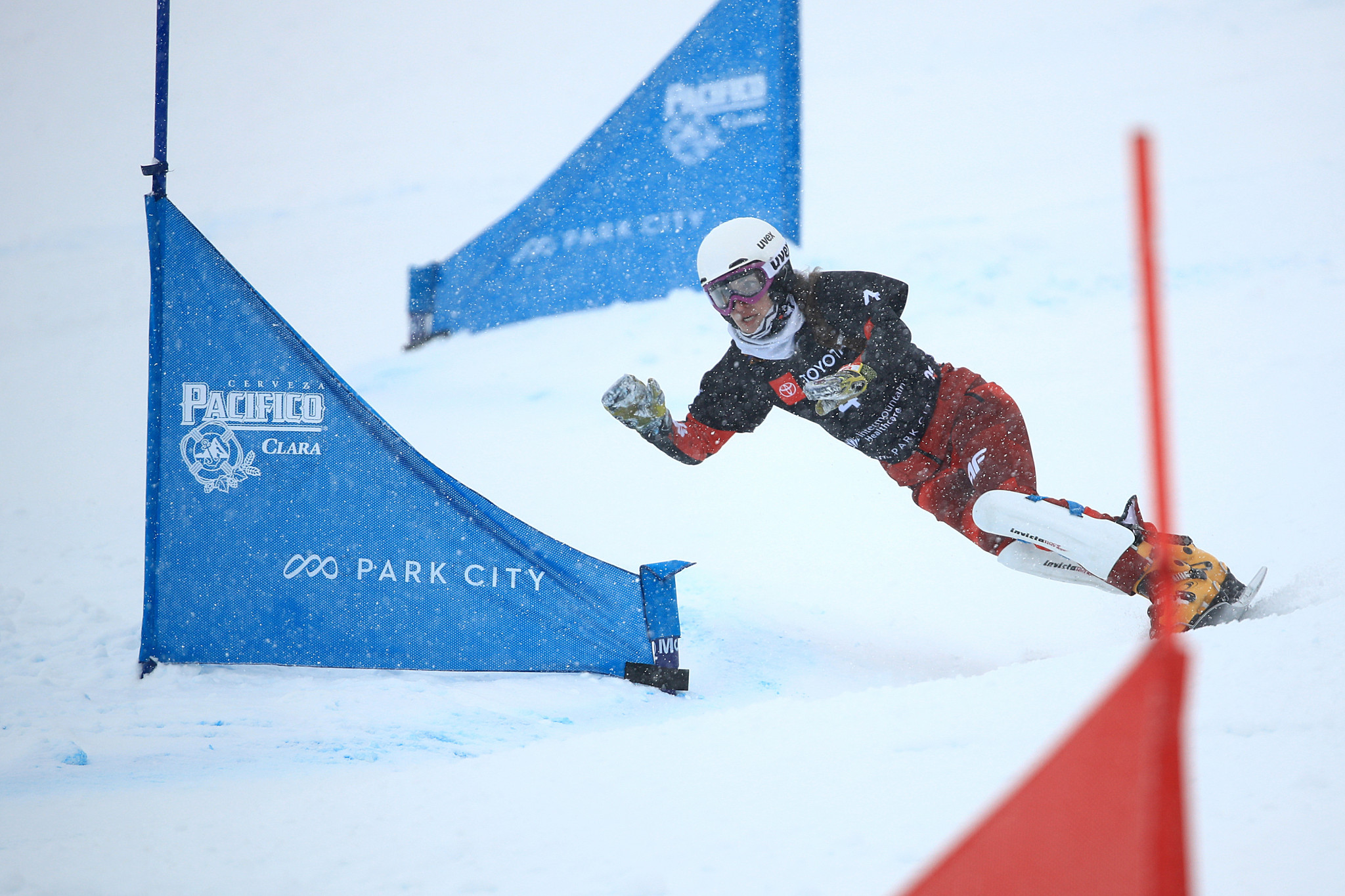 Julie Zogg of Switzerland won the women's parallel slalom event ©Getty Images