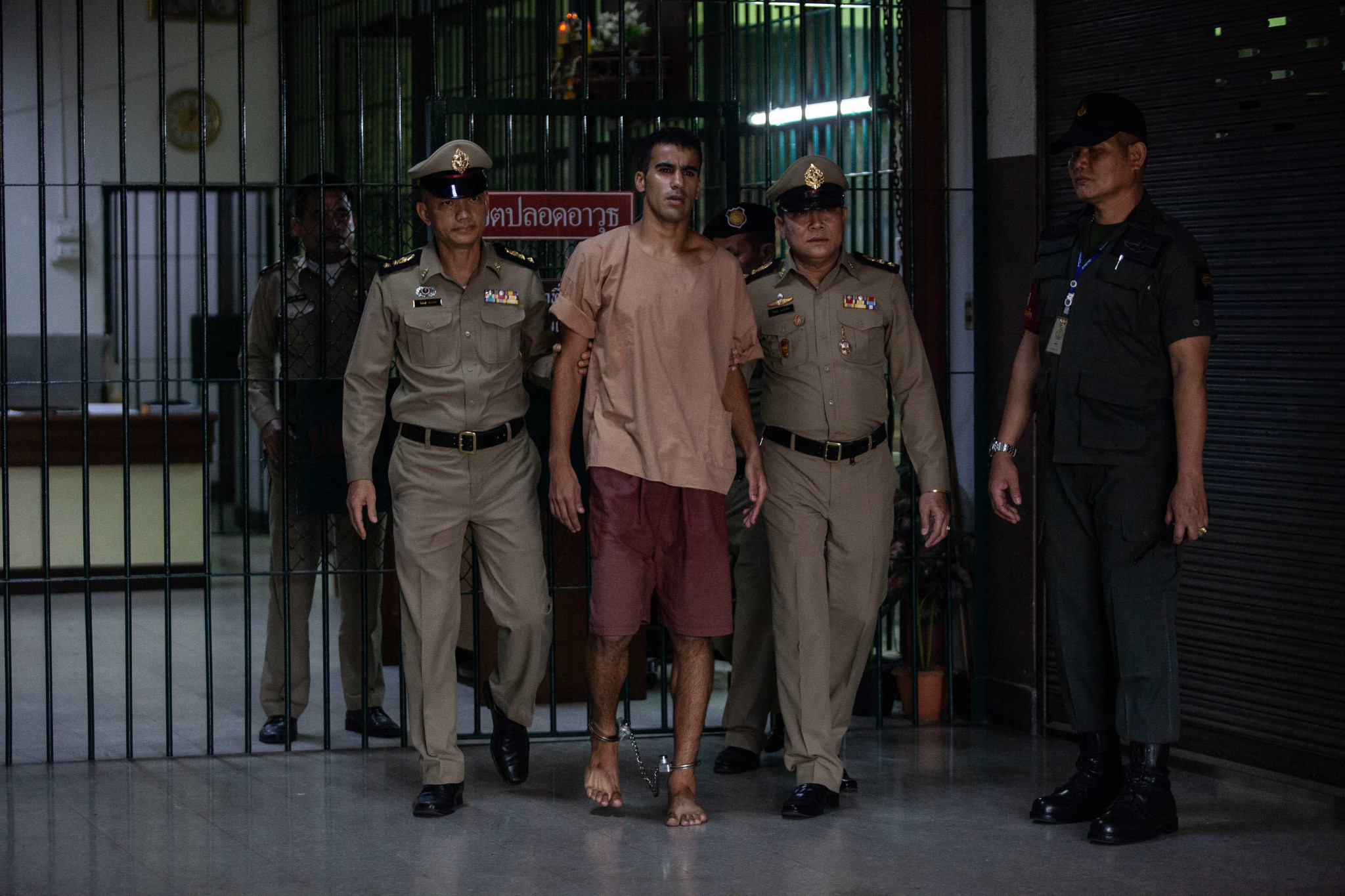 Hakeem Al-Araibi appeared at a court hearing in Bangkok on Monday ©Getty Images