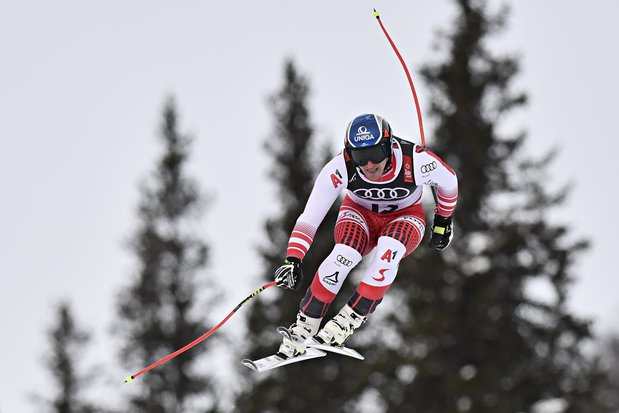 Austria's Olympic champion Matthias Mayer was among 19 skiers who failed to finish ©Getty Images