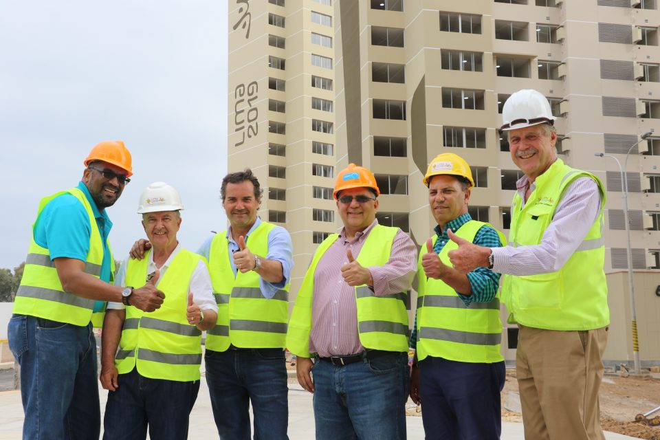 Panam Sports President Neven Ilic, third left, has visited Lima 2019 venues ©Panam Sports