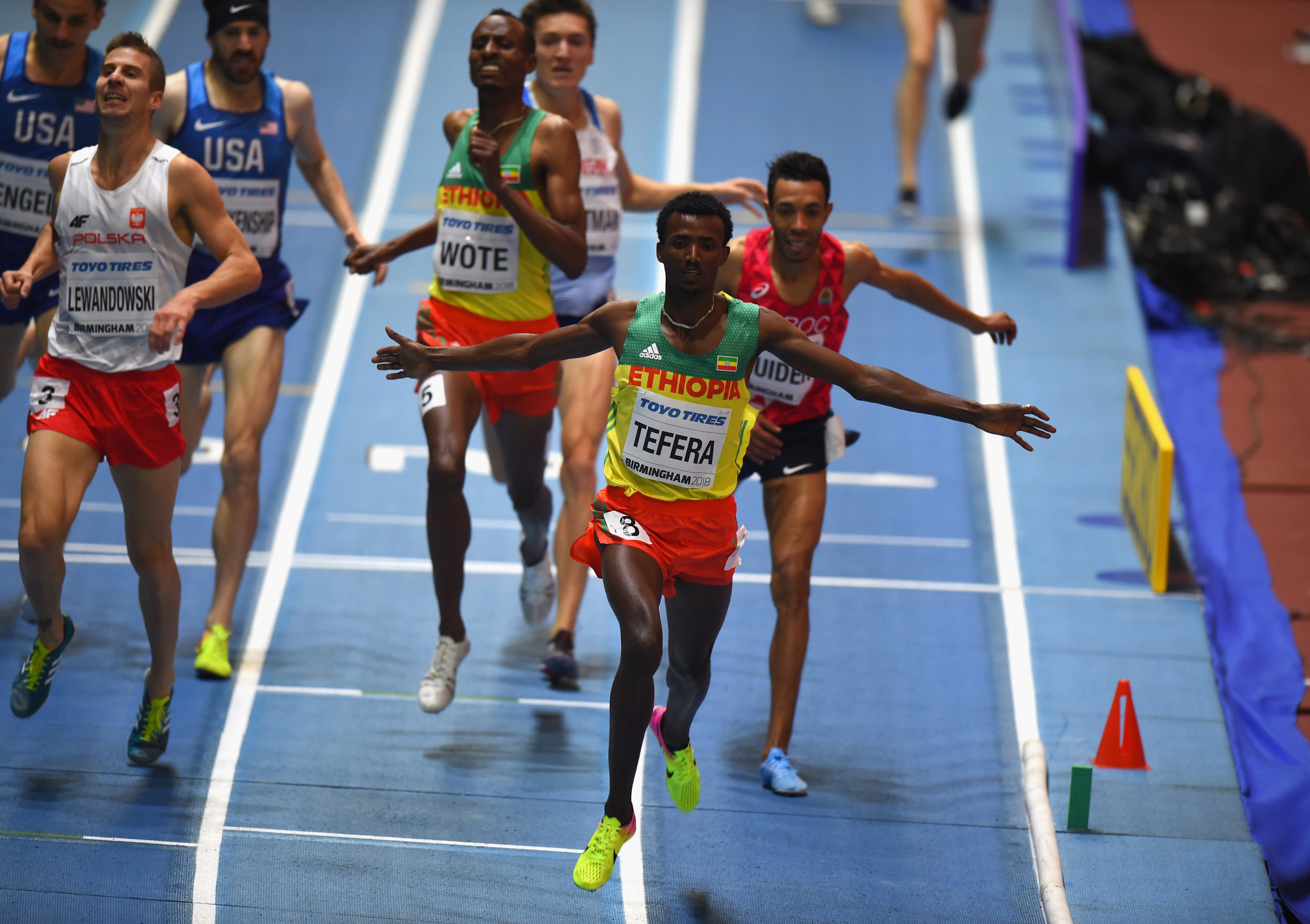 World indoor champion Samuel Tefera won the men's 1,500m today in a world leading time ©Getty Images