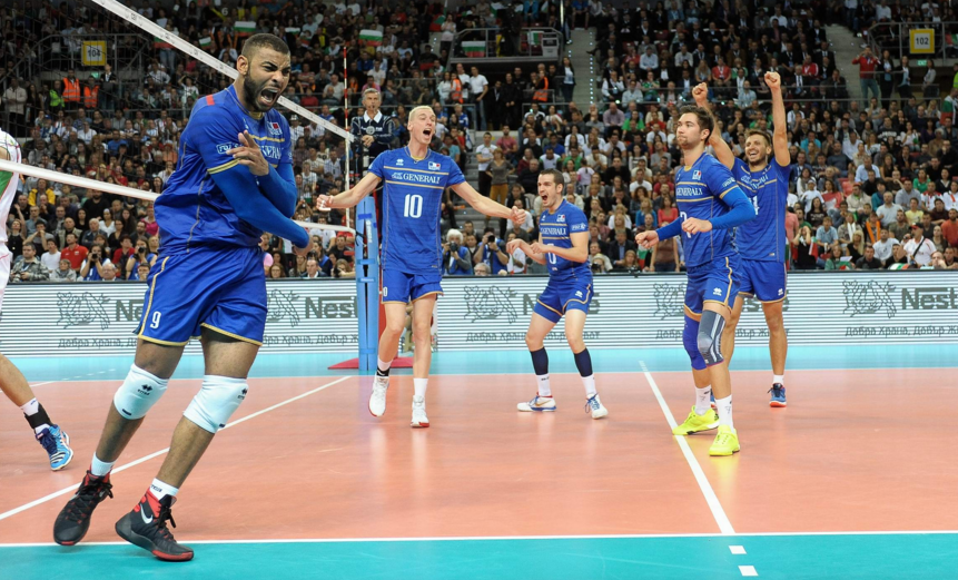 france eliminate hosts bulgaria at men s european volleyball championships as surprise package. Black Bedroom Furniture Sets. Home Design Ideas
