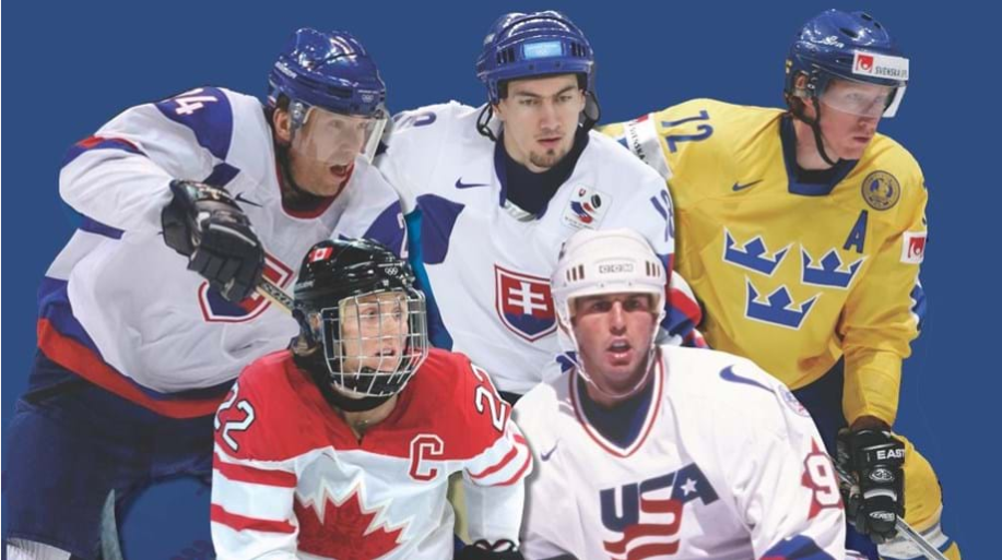 Joining Hayley Wickenheiser in being inducted are Slovakians Žigmund Pálffy and Miroslav Šatan, Sweden's Jorgen Jonsson and the United States' Mike Modano ©HHOF-IIHF Images