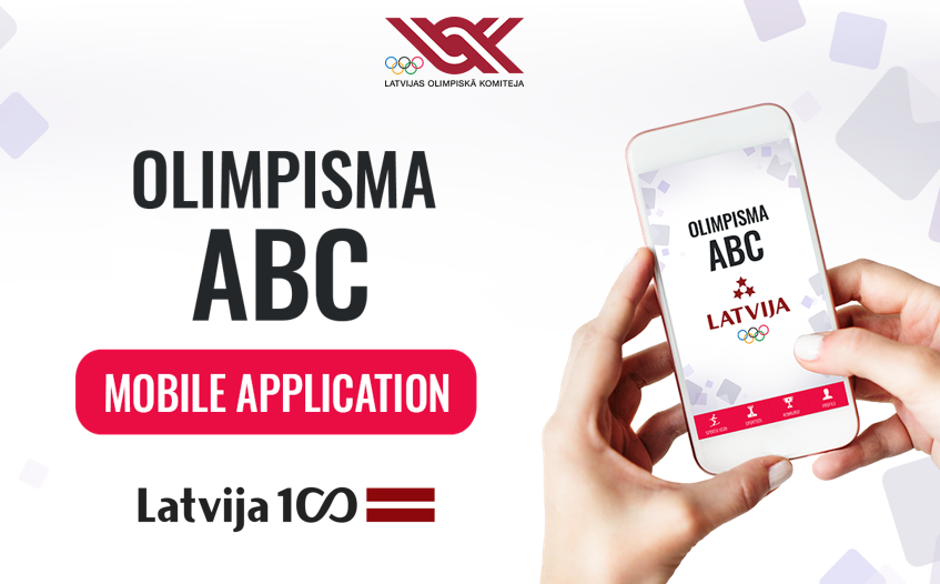 "The Latvian Olympic Committee has launched a mobile phone app called ""ABC of Olympism"" ©LOK"