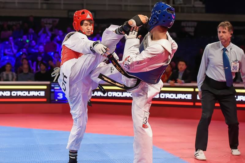 Lee lights up Manchester with opening victory of World Taekwondo Federation Grand Prix
