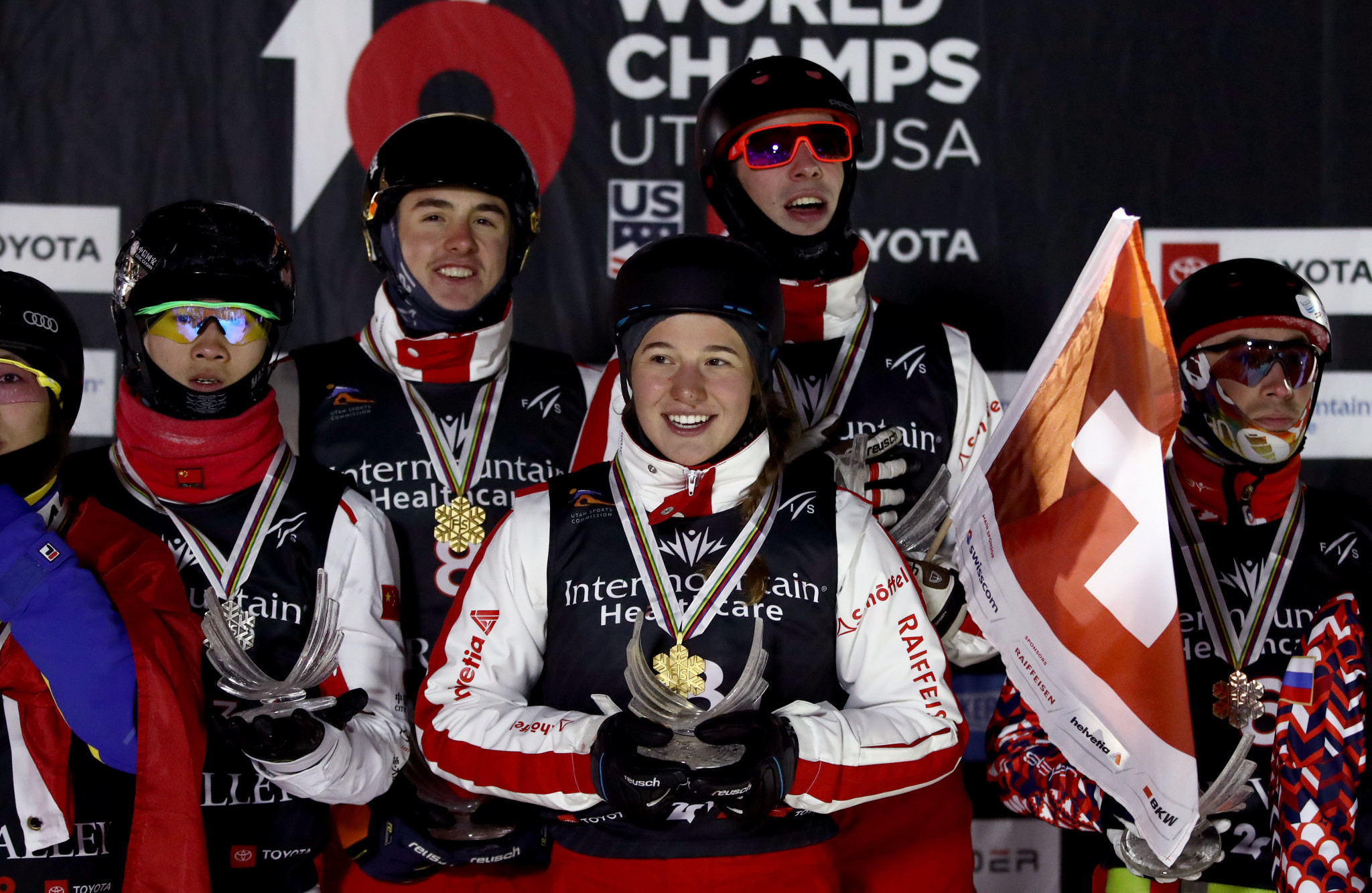 Switzerland clinch surprise mixed team aerials win at Freestyle Ski and Snowboarding World Championships
