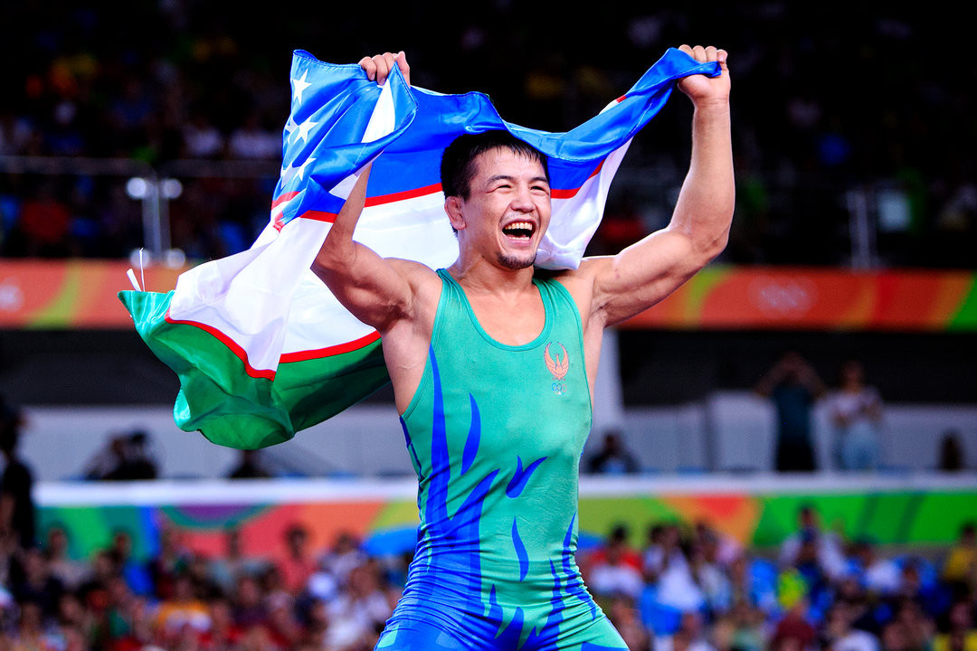 Uzbekistan's Elmurat Tasmuradov is one of two Olympic medallists that will be competing in Zagreb ©UWW