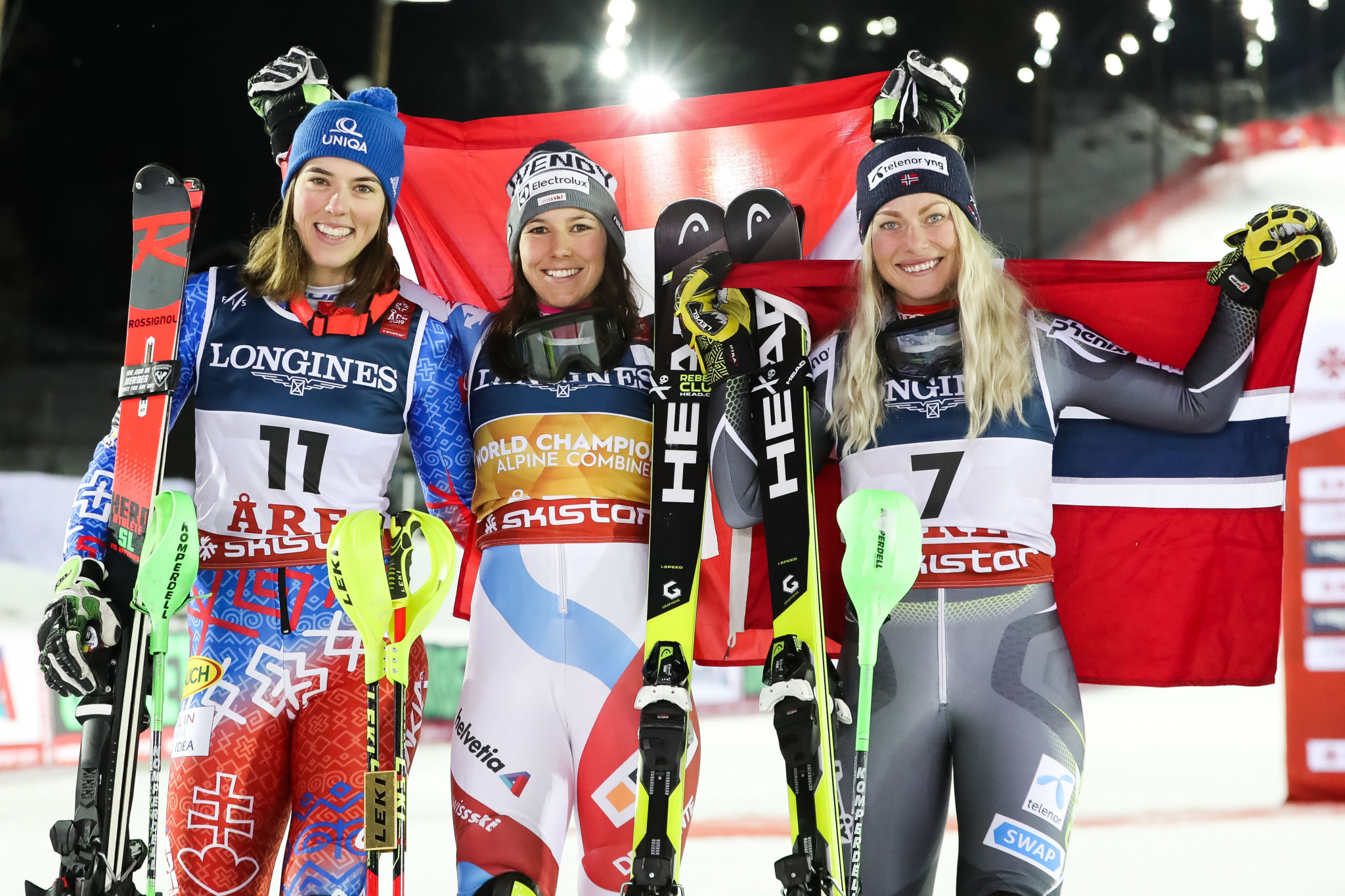 Wendy Holdener triumphed in the women's Alpine combined event ©Getty Images