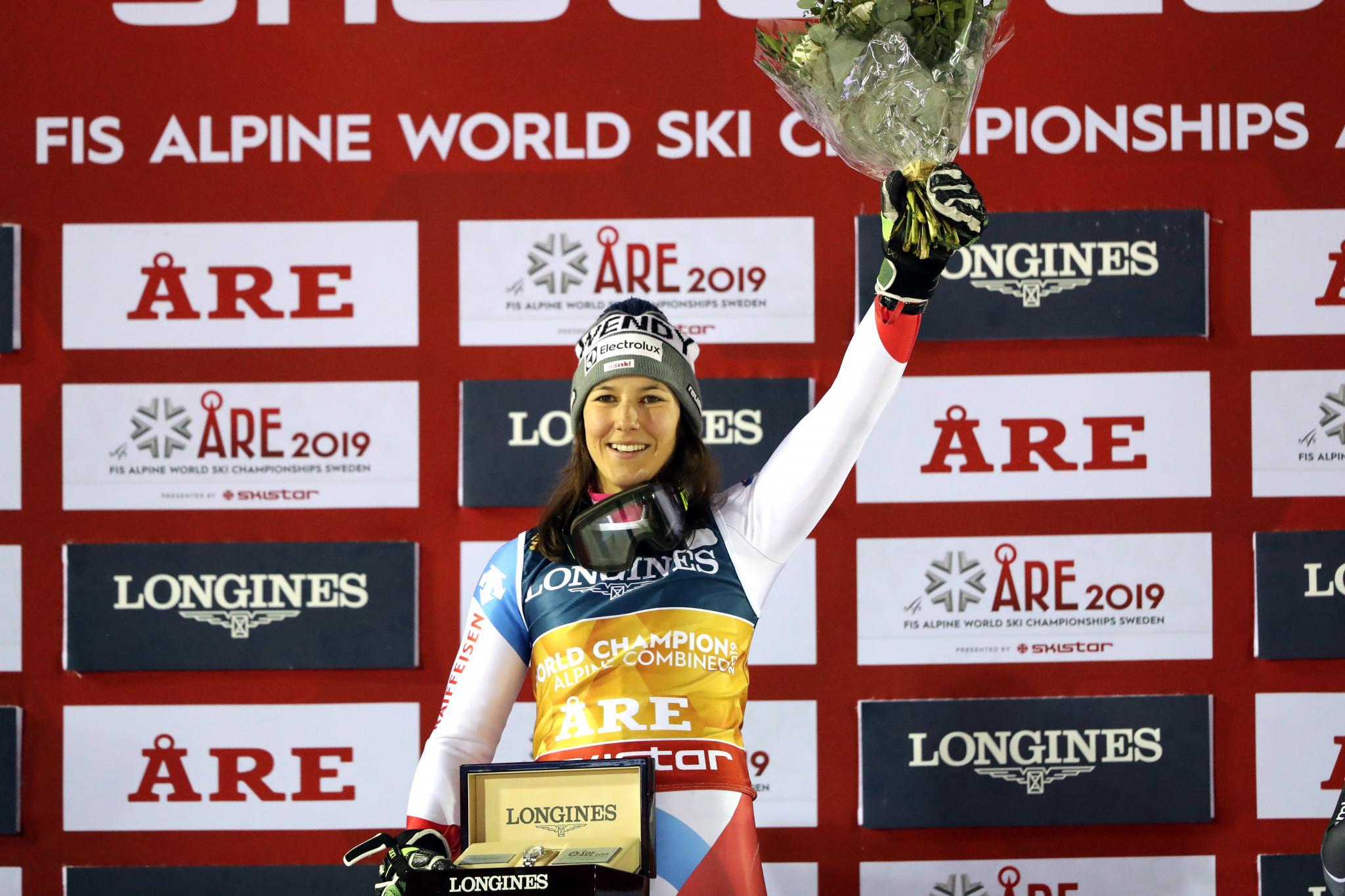 Wendy Holdener is only the fifth woman to defend their Alpine combined world title ©Getty Images
