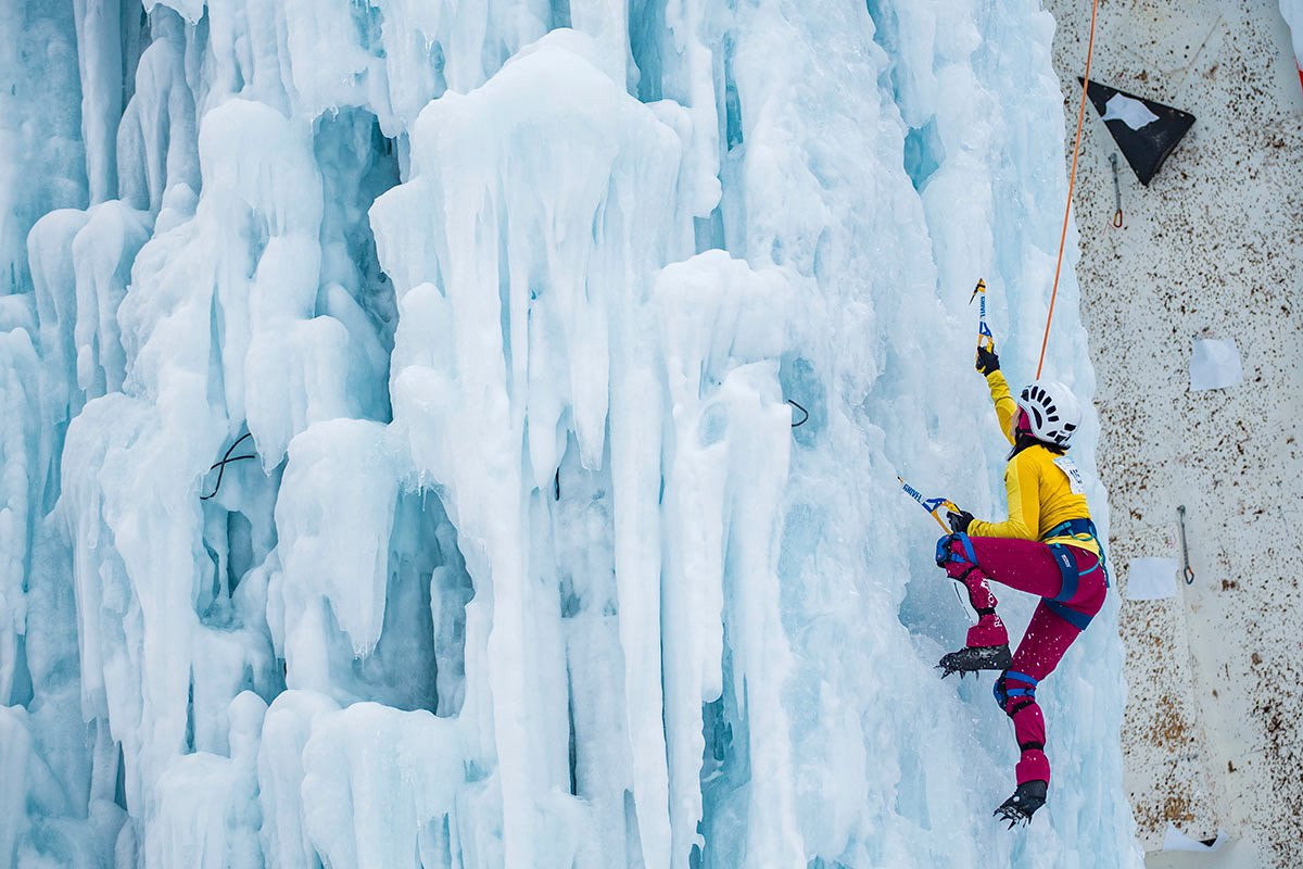 Ice Climbing World Cup action began in France ©UIAA