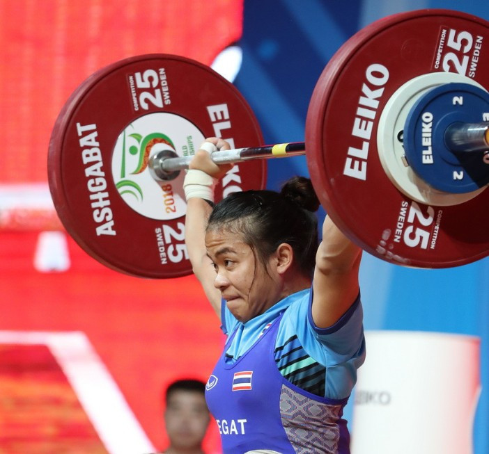 Thailand's Chayuttra Pramongkhol is set to be stripped of the gold medal she won in the 49kg at last year's IWF World Championships after testing positive for banned drugs ©IWF