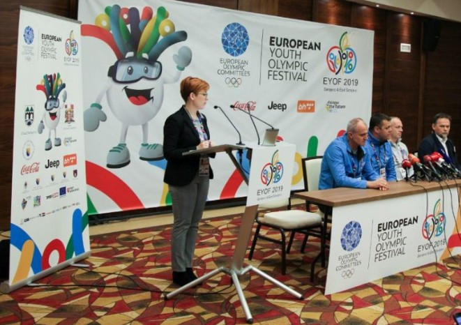 Organisers spoke prior to the Opening Ceremony of the EYOF ©EOC