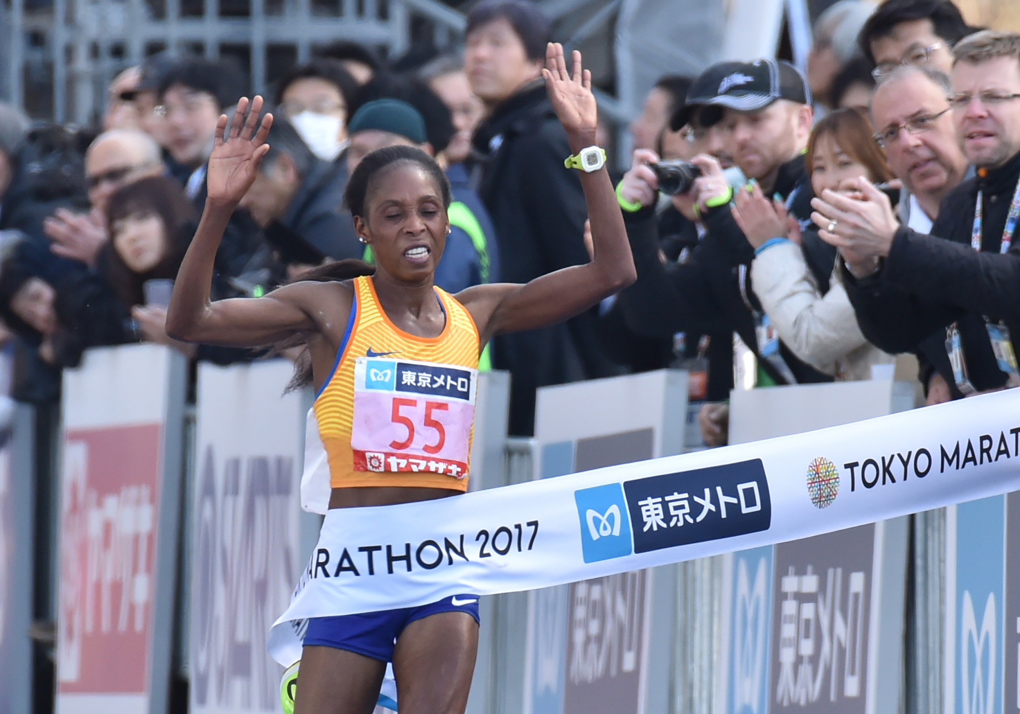 Kenya's former Tokyo Marathon winner Sarah Chepchirchir has been provisionally suspended ©Getty Images