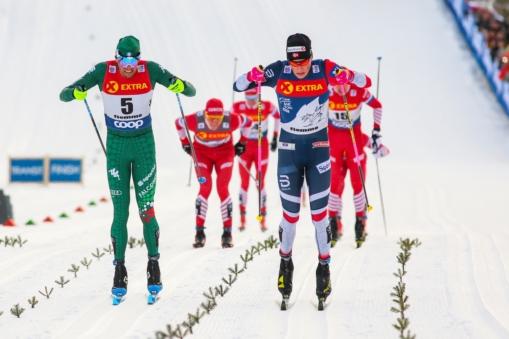 Norway swept the men's and women's sprint freestyle races at the FIS Cross-Country World Cup in Lahti ©Getty Images